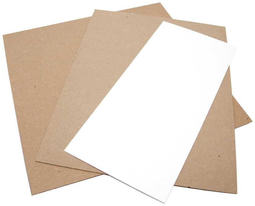 cardboard box inserts chipboard pad samples 3sizes a wht